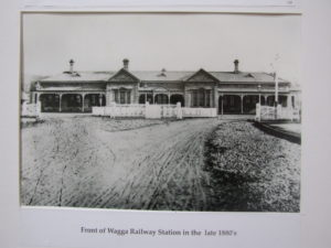 Front of Wagga Railway Station in the late 1880's